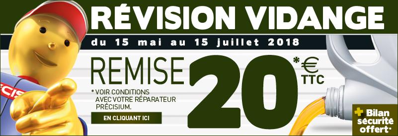 PROMOTION VIDANGE, REMISE IMMÉDIATE DE 20 EUROS TTC